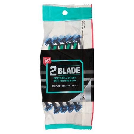 Walgreens Disposable Twin-Blade Pivot Plus Razors - 10 ea