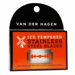 Van Der Hagen Double-Edge Razor Blades, Ice Tempered Stainless Steel Blades