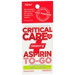 UrgentRx Critical Care Aspirin to Go Powder Pack Lemon-Lime