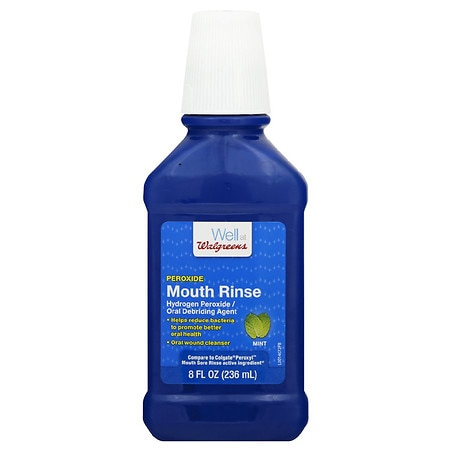 Walgreens Alcohol Free Peroxyl Rinse Mint - 8 fl oz