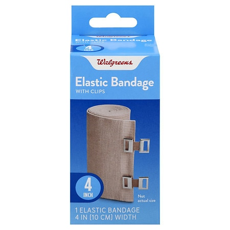 Walgreens Bandage With Clips 4 Inch - 1 ea