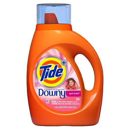 Tide Plus A Touch of Downy Liquid Laundry Detergent 24 Loads April Fresh - 46 fl oz