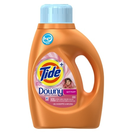 Tide Plus A Touch Of Downy High Efficiency Liquid Laundry Detergent 24 Loads April Fresh 46 Fl Oz