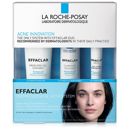 La Roche-PosayEffaclar Dermatological Acne Treatment System for Face Oil Free1.0ea