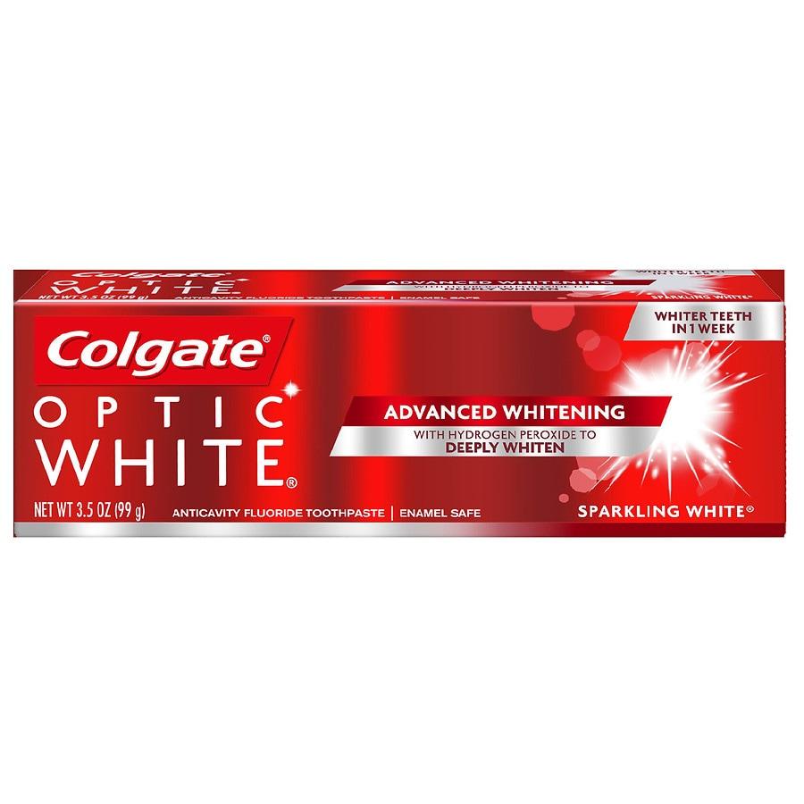 2fc5dc112ac Colgate Optic White Advanced Whitening Toothpaste Sparkling Mint ...