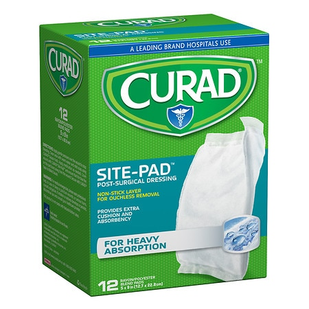 Curad SitePad Surgical Dressings 5 in x 9 in - 12 ea