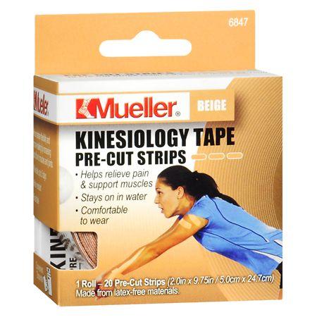 Mueller Kinesiology Tape Pre-Cut Strips - 1 ea