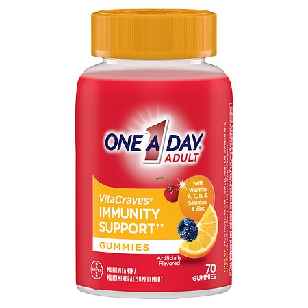 One A Day VitaCraves Adult Multivitamin Gummies + Immunity Support - 70 ea
