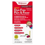 Walgreens Infants' Pain & Fever Reducer, Dye Free Cherry