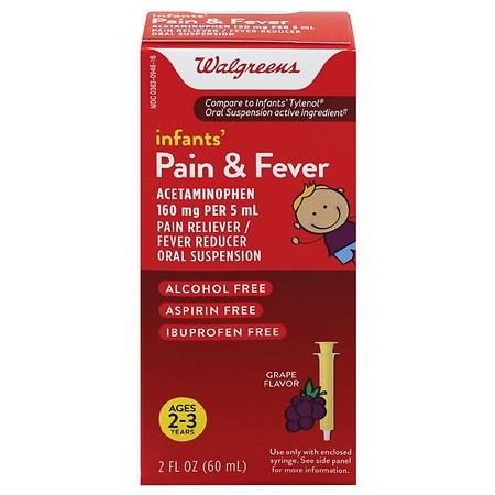 Walgreens Infants' Pain & Fever Reducer Grape - 2 OZ