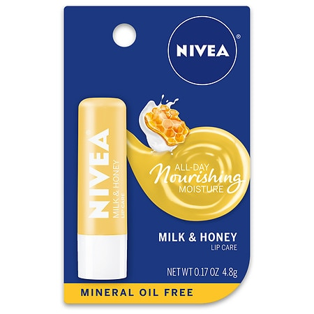 Nivea Pure And Natural Milk And Honey Lip Balm