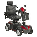 Drive Medical Ventura 4 Wheel Scooter with Captain Seat 20 inch Seat Red & Blue