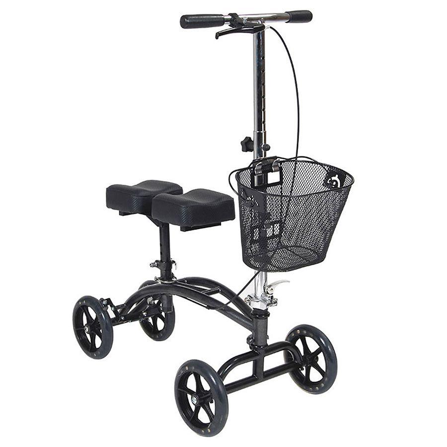 Drive Medical Dual Pad Steerable Knee Walker With Basket Silver1 0 Ea