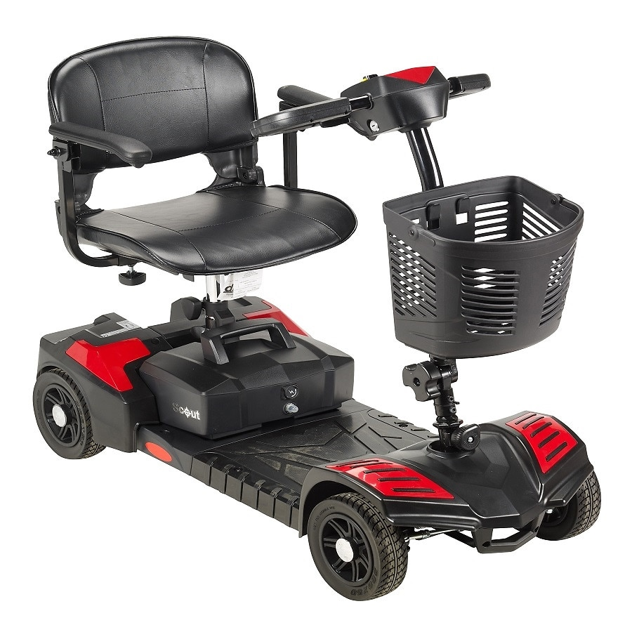 drive medical spitfire scout 4 wheel travel power scooter 16 5 inch seat red walgreens. Black Bedroom Furniture Sets. Home Design Ideas