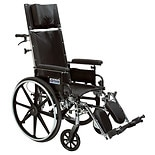 "Drive Medical Viper Plus GT Reclining Wheelchair with Detachable Desk Arms 20"" Seat Black"