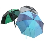 West Loop Double Canopy 60 Inch Golf Umbrella Assorted