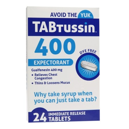 TABtussin 400 Expectorant Immediate Release Tablets - 24 ea