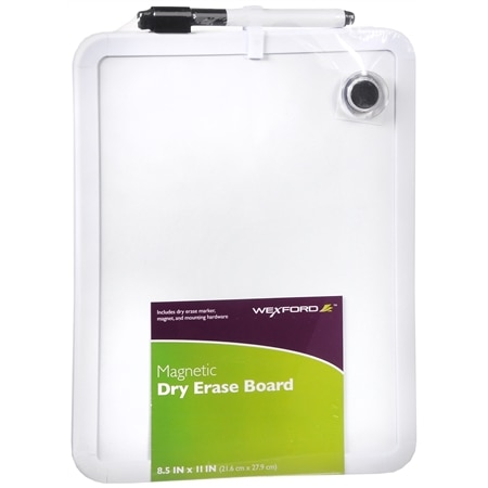 Wexford Magnetic Dry Erase Board 8.5 x 11 Inch - 1 ea