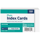 Wexford Plain Index Cards 3 x 5 Inch White