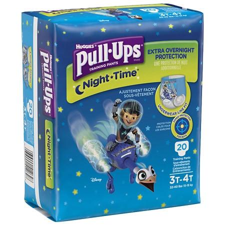 Huggies Pull-Ups Night-Time Training Pants for Boys 3T-4T - 20 ea
