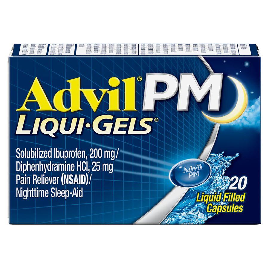 Advil Pm Liqui Gels Pain Reliever Nighttime Sleep Aid Walgreens