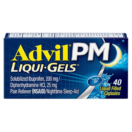 Advil PM Liqui-Gels Pain Reliever & Nighttime Sleep Aid Liquid Filled Capsule - 80 ea