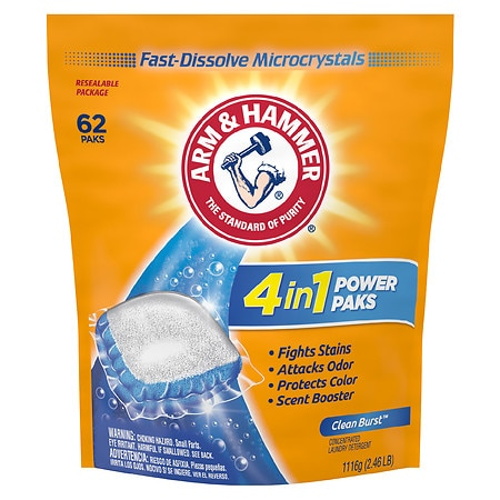 Arm & Hammer Ultra Power OxiClean Paks Fresh Scent - 0.63 oz. x 62 pack