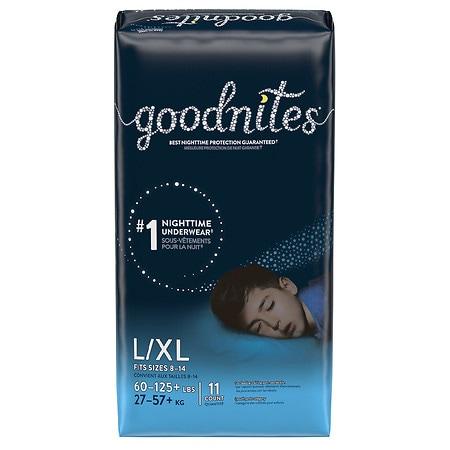 GoodNites Bedtime Bedwetting Underwear for Boys, L/XL - 11 ea