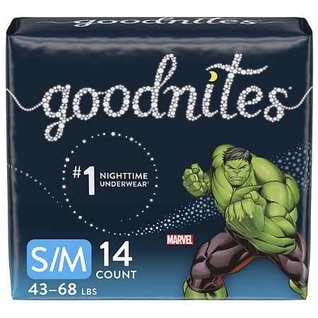 GoodNites Bedtime Bedwetting Underwear for Boys, S/M - 14 ea