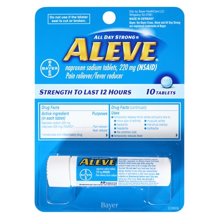 Aleve Pain Reliever/Fever Reducer Tablets - 100 ea