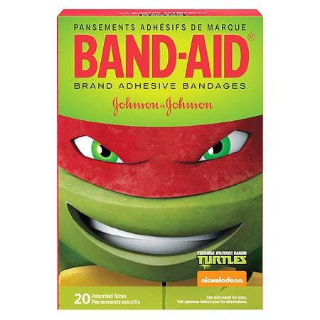 Band Aid Brand Nickelodeon Teenage Mutant Ninja Turtles Assorted Sizes - 20 ea