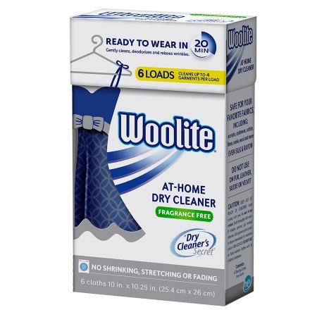 Woolite At-Home Dry Cleaner Fragrance Free - 6 ea