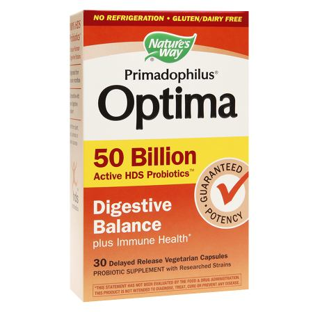 Nature's Way Primadophilus Optima Digestive Balance 50 Billion, Vegetarian Capsules - 30 ea