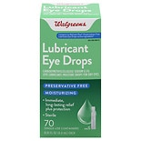 Walgreens Sterile Lubricant Eye Drops, Single Use