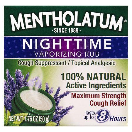 Mentholatum Nighttime Vaporizing Rub Maximum Strength Cough Relief - 1.76 oz.