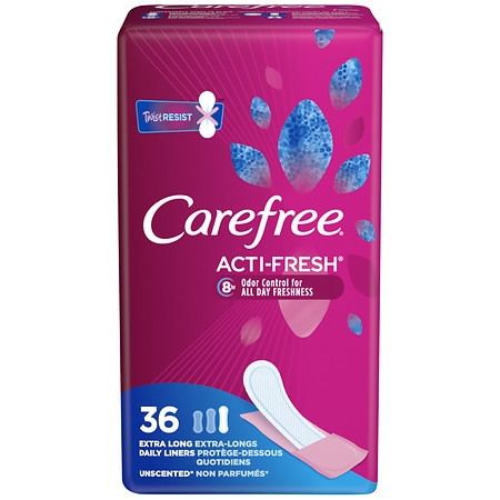 Carefree Body Shape Pantiliners Unscented, Extra Long