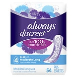 Always Discreet Incontinence Pads, Moderate, Long Length Long Length