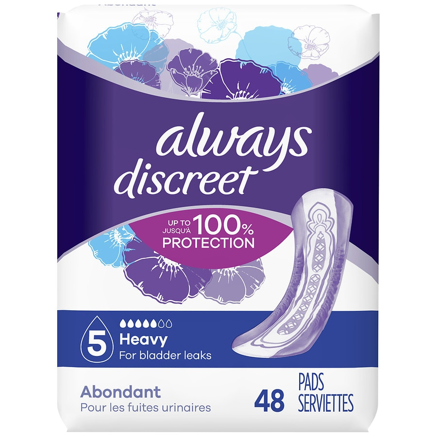 Always Discreet Incontinence Pads For Women Size 5 Heavy