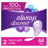 Always Discreet Incontinence Liners, Very Light Absorbency Long Length