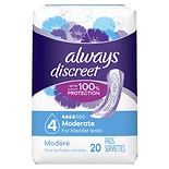 Always Discreet Incontinence Pads, Moderate, Regular Length
