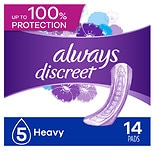 Always Discreet Incontinence Pads, Maximum Absorbency Regular Length