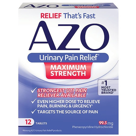 Image of AZO Maximum Strength Urinary Pain Relief Tablets - 12 ea