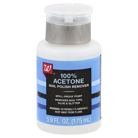Walgreens Beauty Nail Polish Remover Pump 100%