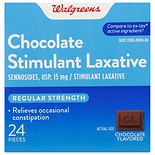Walgreens Regular Strength Laxative Tablets Chocolate