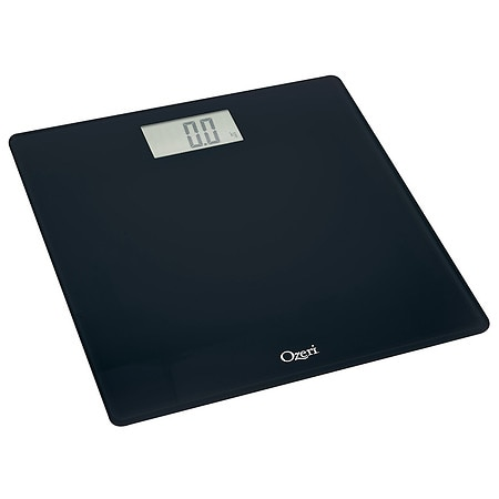 Ozeri Precision Digital Bath Scale, in Tempered Glass with Step-on Activation up to 400 lbs - 1 ea