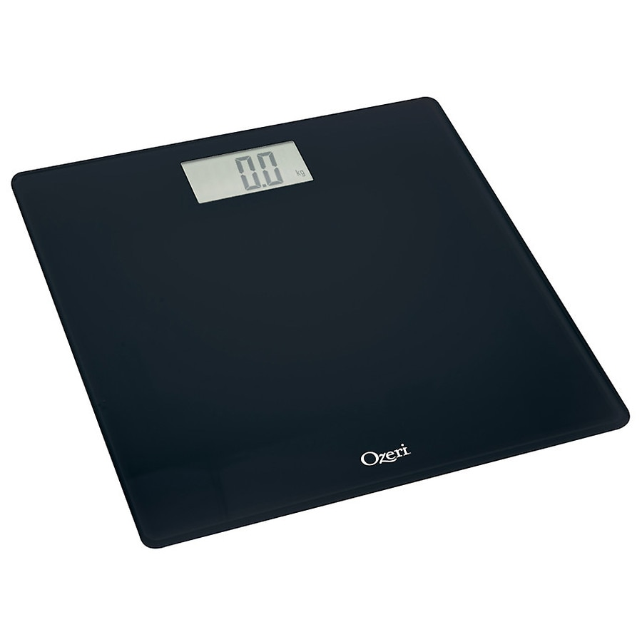 ozeri precision digital bath scale in tempered glass with step on rh walgreens com
