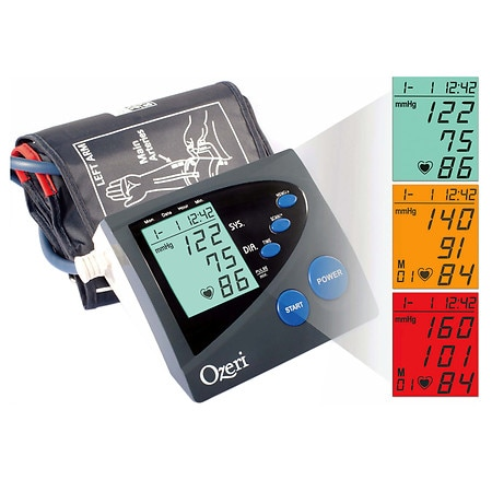 Ozeri BP4M Arm Blood Pressure Monitor with Hypertension Color Alert Technology - 1 ea