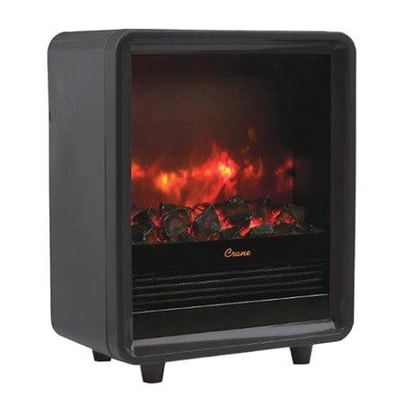 Crane USA Mini Fireplace Heater Black | Walgreens