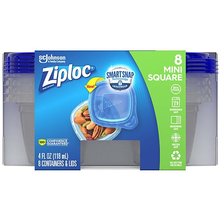 Ziploc Containers X Small - 8 ea