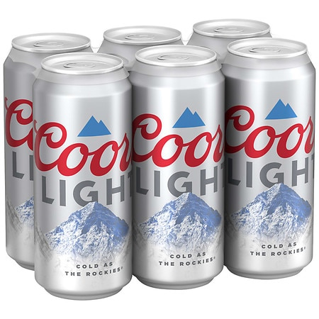 Coors Light Beer - 16 oz. x 6 pack